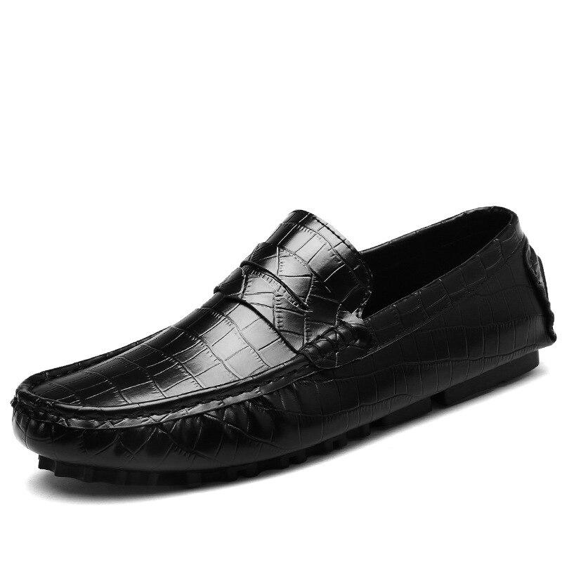 En Marque Véritable De Luxe Cuir Hommes Casual Mocassins Appartements Doux Chaussures Lt161brown lt161blue Homme Mode Respirant lt161black Conduite 2a xxrEwB1