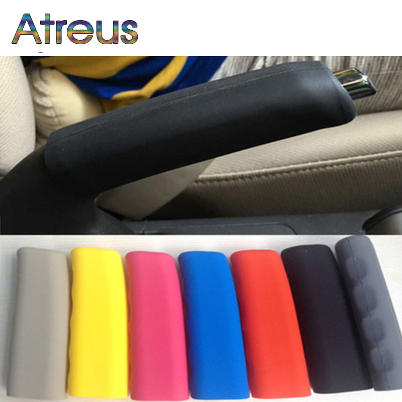 Atreus Silicone Car Handbrake Hand Brake Grips Covers For Fiat 500 Opel Insignia Suzuki Swift Sx4 Hyundai Ix35 Creta Ix25 Nissan