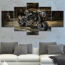 Top-Rated Canvas Art Print One Set Modular Style Picture Home Decor Living Room Wall 5 Pieces Moto Morini Corsaro TI22 Poster