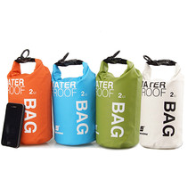 100% New high quality Dry Bag Hiking Durable 2L Waterproof Bag Storage Dry Bag for Canoe Kayak Rafting Mobile phone camera