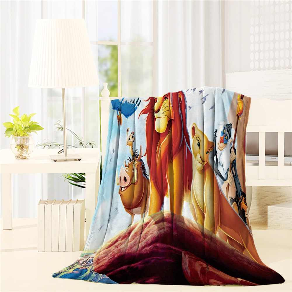 Custom The Lion King  Flannel Throw Blanket Lightweight Cozy Bed Sofa Blankets Super Soft Fabric