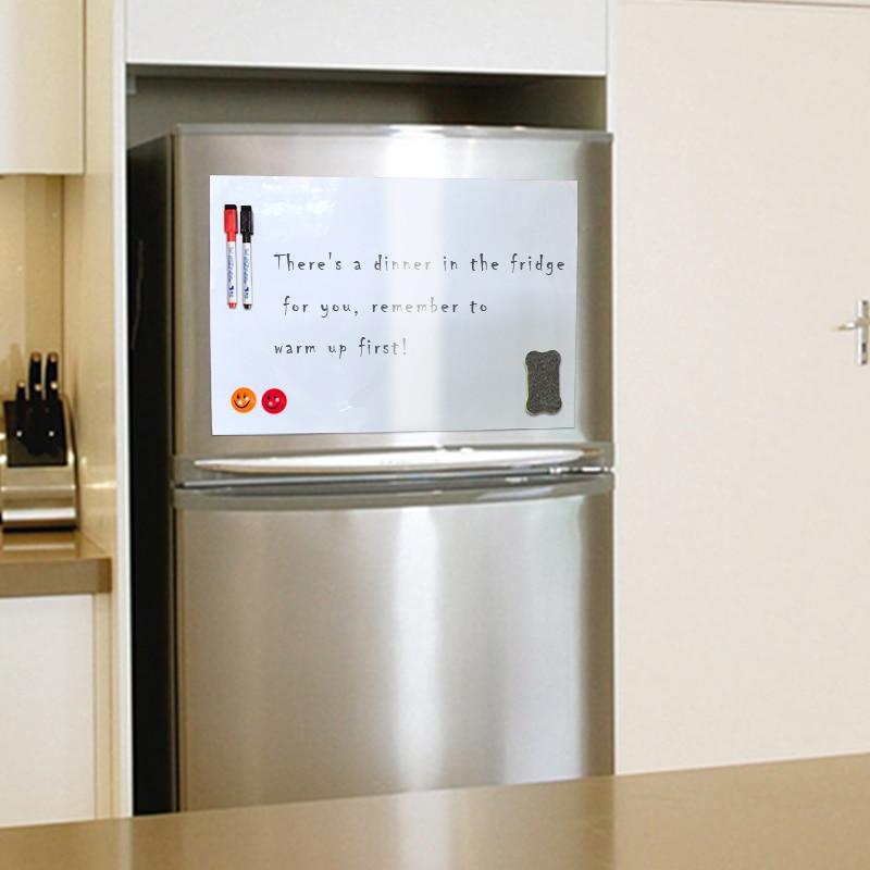 YIBAI placa magnética A4 suave pizarra magnética niños seco borrar dibujo y de grabación para nevera refrigerador regalo gratis