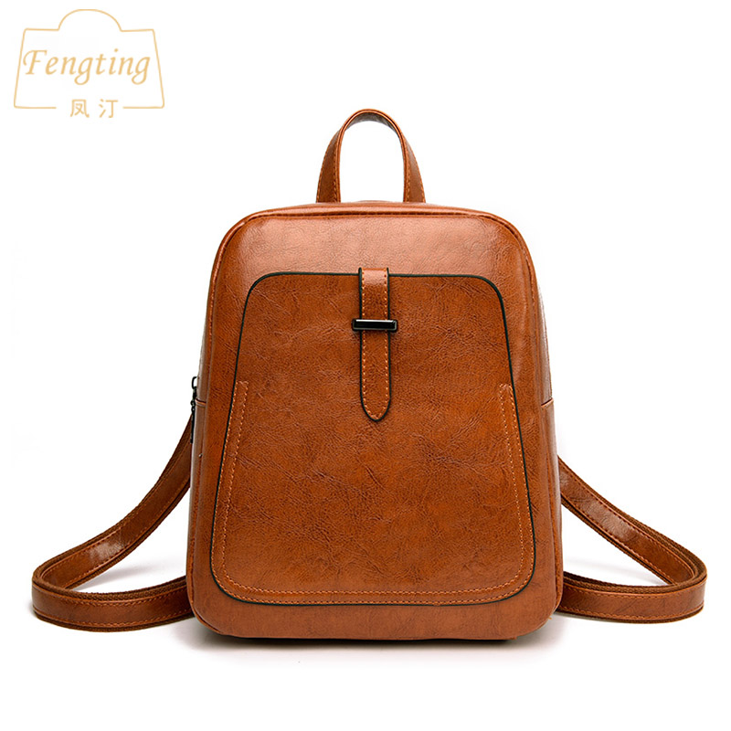 Fashion brown small backpack for women 2019 new arrival backpack leather woman girls school bags gray with belts FENGTING FTB038Fashion brown small backpack for women 2019 new arrival backpack leather woman girls school bags gray with belts FENGTING FTB038