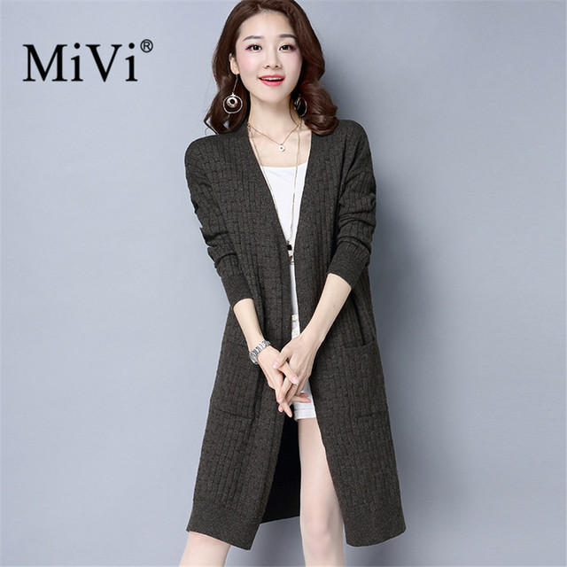 bd32a33d6176 MIVI Cardigan Knitted Women Sweater 2017 New Fashion Autumn Winter ...