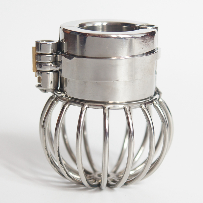 Stealth Lock Design Scrotum Pendant Stainless Steel Testicles Chastity Cage Ball Stretchers Cock Ring Male Chastity Sex ToysStealth Lock Design Scrotum Pendant Stainless Steel Testicles Chastity Cage Ball Stretchers Cock Ring Male Chastity Sex Toys