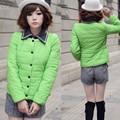 Drop shipping! Cheap! Korea Women's False Apart Collar Winter Warm Cotton Parkas Coat Jacket