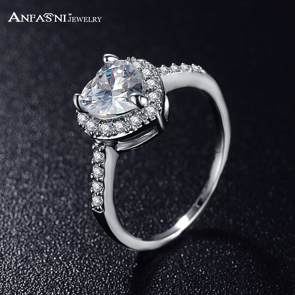 Silver Color Plated Micro Pave  Clear Aaa Cubic Zirconia Promise Ring Cri0004