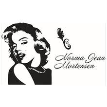 Marilyn Monroe Adesivos De Parede Retrato Emoji Decalques De Vinil  Decoração Da Casa Sala De Estar Quarto Papel De Parede Das Me. Part 93