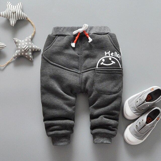 Новые зимние детские брюки мальчиков и девочек мода утолщение брюки детские брюки случайных плюс наличные