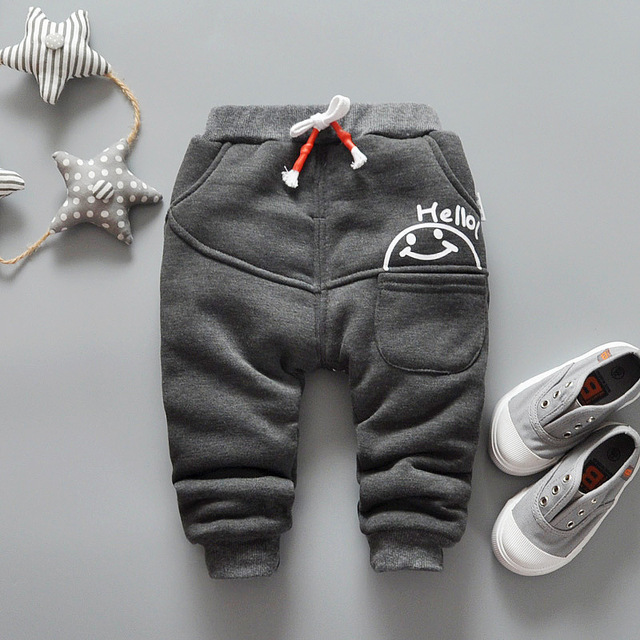 new winter children's pants boys and girls fashion thickening pants children's casual pants plus cash