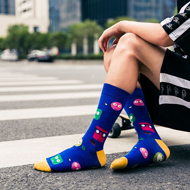 Fashion Women Colorful Funny <font><b>Socks</b></font> Men and Women Cartoon Rooster Soft Breathable <font><b>Socks</b></font> Casual <font><b>Happy</b></font> <font><b>Socks</b></font> <font><b>Unisex</b></font> image