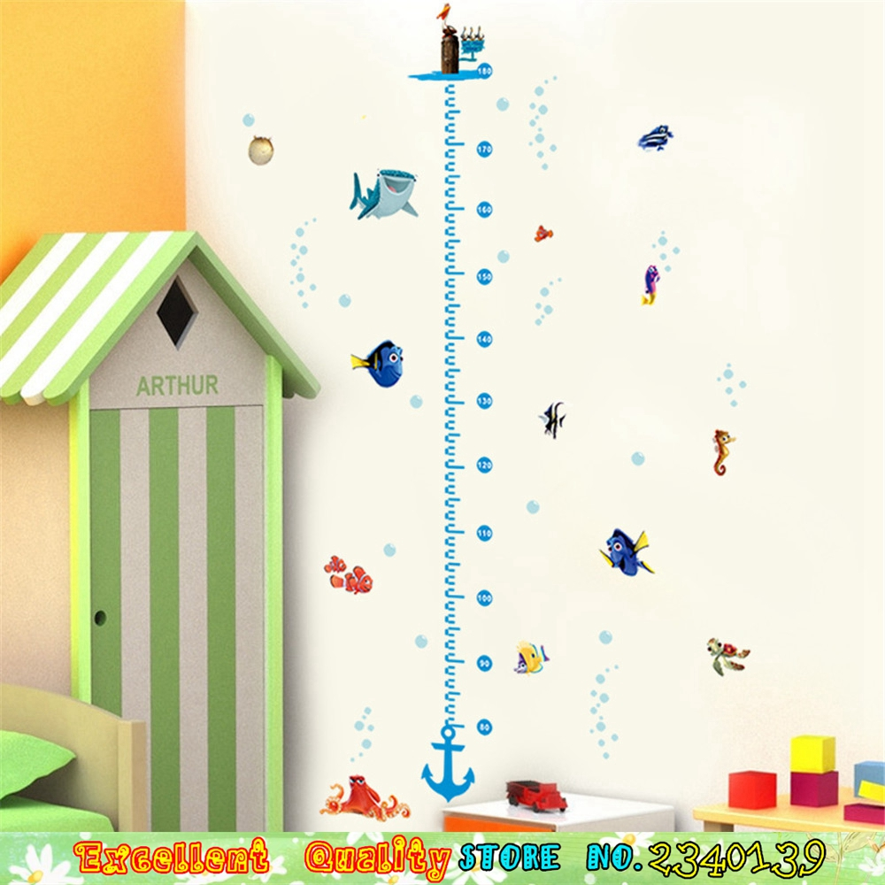 Finding nemo sea fish shark height measure growth chart wall sticker finding nemo sea fish shark height measure growth chart wall sticker for kids room wall art decal children bedroom wall stickers in wall stickers from home geenschuldenfo Image collections