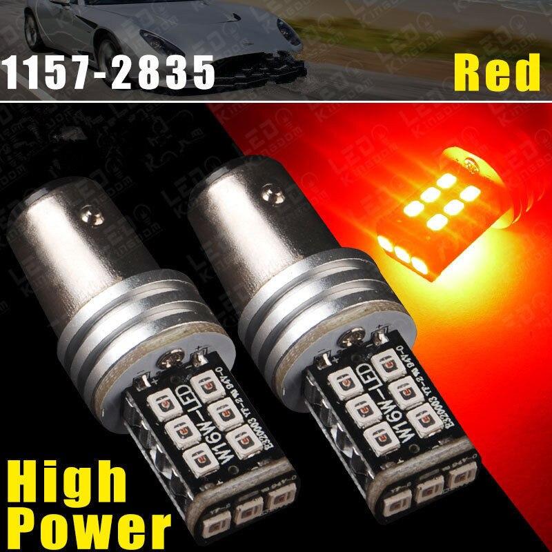 CYAN SOIL BAY 2X Ultra Red 1157 BAY15D P21/5W 15W High Power LED Tail Brake Stop Light 1157A Error Free Bulb Lamp Canbus cyan soil bay 2pcs 7 5w bay15d 1157 p21 5w red led 5 cob car brake tail light bulbs lamp auto