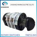 Interruptor rotativo de 3 posições YMZ12-35/3 interruptor cambiador do pneu máquina de pneu de carro ferramenta acessório universal comutador elétrico