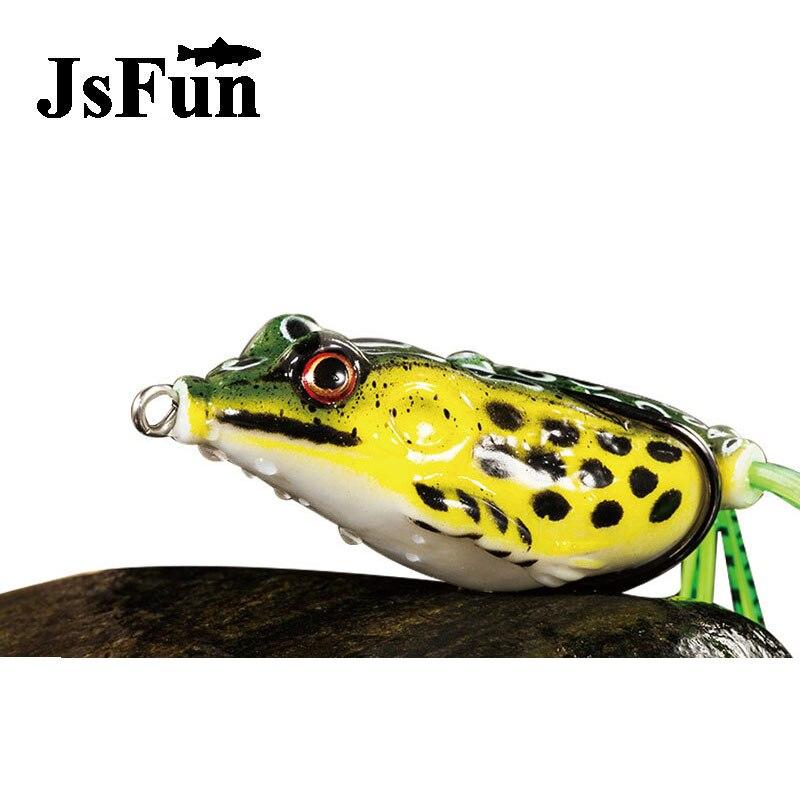JSFUN 30pcs 13g 6cm Frog Lure Soft Lures Artificial Fishing Bait Topwater Wobbler Bait For Pike Snakehead Article Gear fu1008