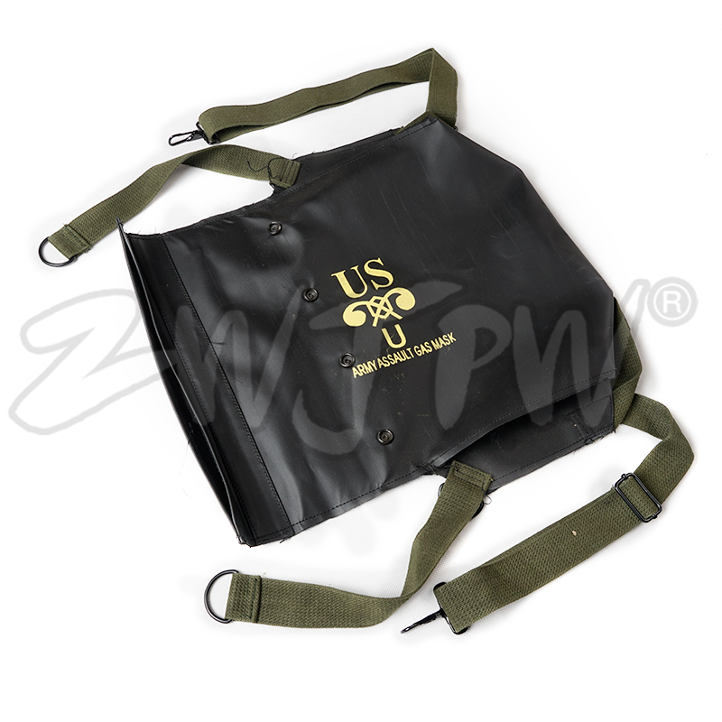 Ww2 Wwii Us Army Normandy D-day M5 M7 Gas Mask Bag Pack Carrier Repro Black Campcookingsupplies