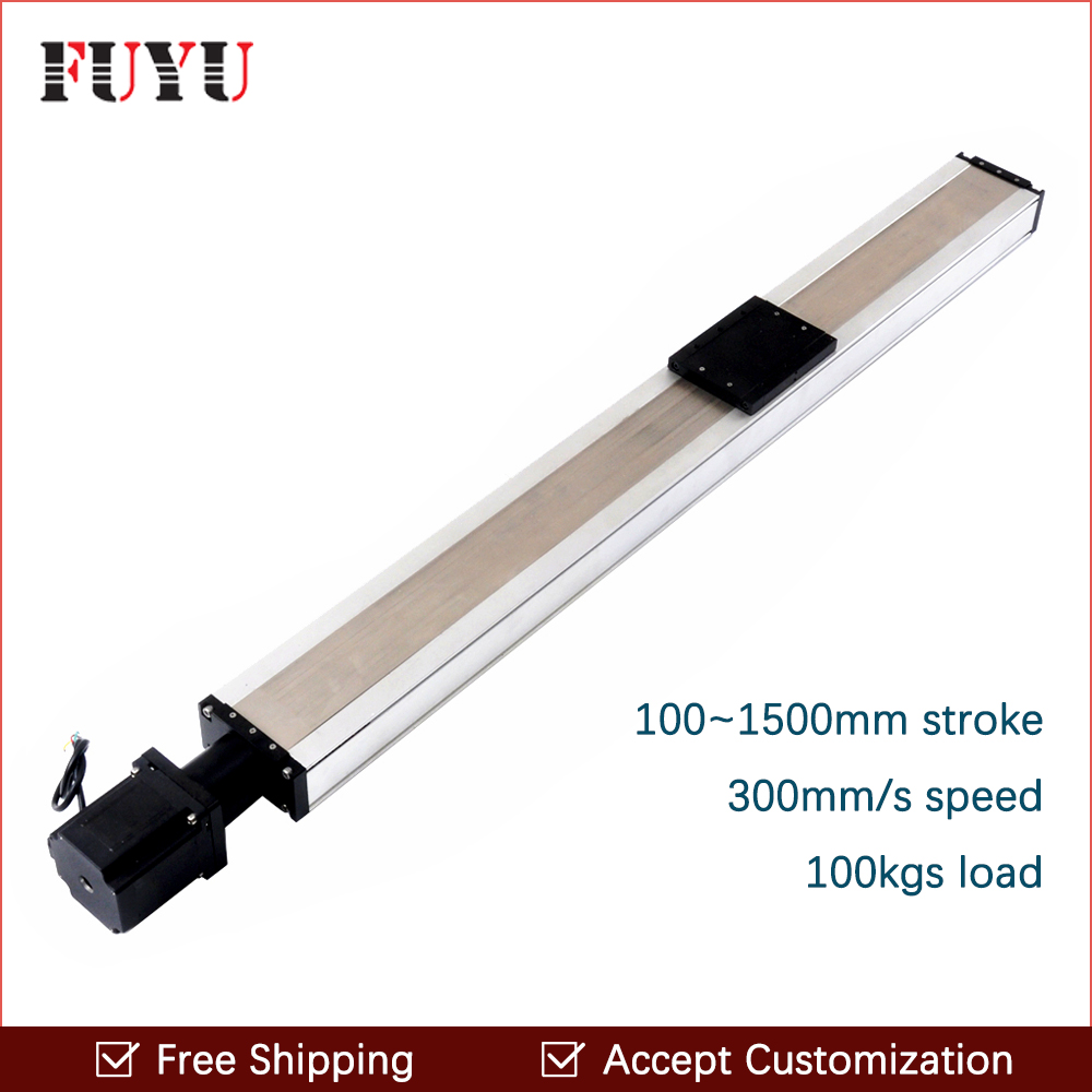 Threaded rod 800mm linear guide rail with motor and ball screw for cnc ball screw linear module for 3d printer robotic arm kit linear guide rail high precision industrial graded transformers impresora 3d printer diy kit aluminium metal frame e6 with box