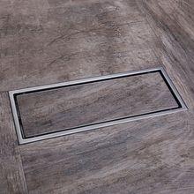 12-Inch из нержавеющей стали невидимыми линейный душ трапных Wetroom решетка с фильтром 30 x 11 см
