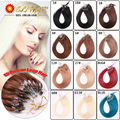 Easy Micro Ring Loop Human Hair Extension Lot 50g,0.5g/Strand 100% Brazilian Human Hair ,16''-24'' Blonde Purple Red 1B Color