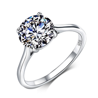 2 Carat 9mm Hearts Arrows CZ Rings 100 Pure 925 Sterling Silver Wedding Rings For Women