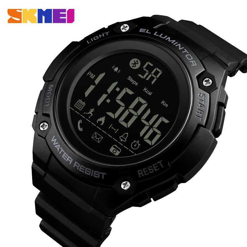 8d9e43a5ab49 SKMEI hombres deportes inteligentes reloj podómetro calorías llamada reloj  recordatorio cuenta atrás de distancia 50 m