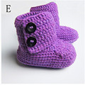 2016 Newborn Baby Girls Soft Knitted Prewalkers Toddler Crochet Princess Booties Babies Winter Warm Snow First Walker Shoes