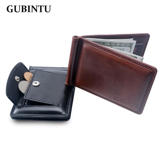49a624b5ff Portafoglio uomo In Pelle fermasoldi portafoglio con tasca portamonete in  pelle morsetto prezzo crad holder borsa