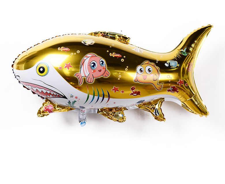 الكرتون شكل بالون الأطفال لعبة الألومنيوم فيلم الألومنيوم احباط كبير القرش البحر أسفل القرش