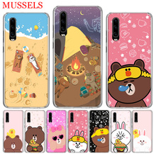 Couples Brown Cony Phone Case for Huawei P30 P20 Mate 20 10 Pro P10 Lite P Smart + Plus 2019 Customized Cover Cases Capa Coque