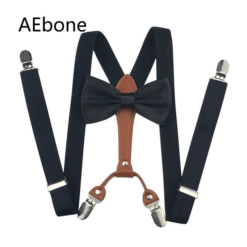 AEbone Mens Tuxedo Suspenders Bow Tie Set 4 Clip Button Pant Braces For Trousers Women Brace BowTie Suspensorio Adulto Sus19