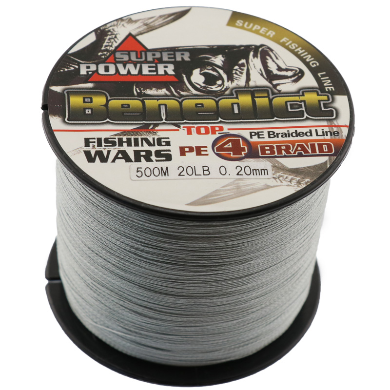 500M Brand Feihong 4 strands Japan Multifilament 100% PE supper strong Braided Fishing Line 0.1mm-0.48mm big game braided cores