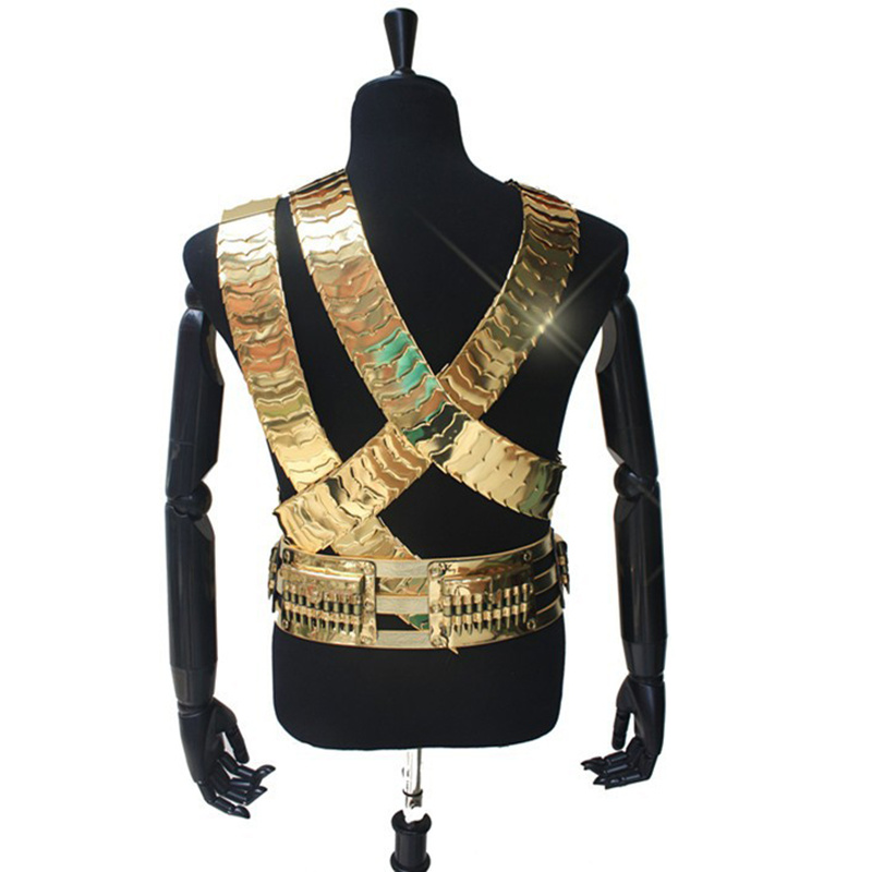 Clearance SaleRare MJ Michael Jackson Classic JAM Jacket & Metal Full Set Bullet Punk Exactly Same High Collection Halloween Costume Show Gift