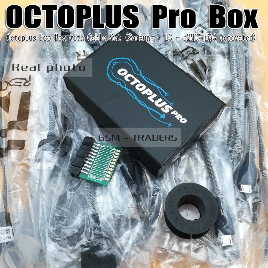 2018 Nouvelle Version Octoplus Pro Boîte/octoplus pro jtag boîte Pour Samsung pour LG + eMMC/JTAG Activé) avec 7 en 1 Câble/Adaptateur