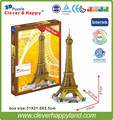 2013 new clever&happy 3d puzzle model Eiffel Tower adult diy model gift for boy paper