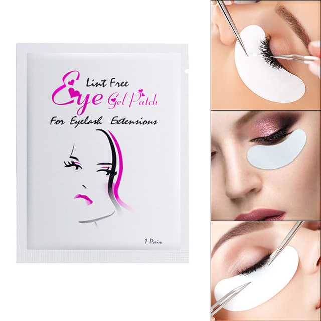 Drop Ship 50 Pairs Eye Pads Eyelash Extension Under Eye Gel Salon Lint Free Patches Eye Mask Make-Up Tools TSLM2 1