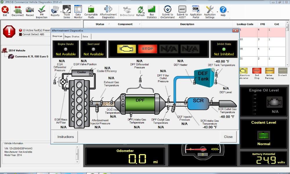 Image 5 - 2019 JPRO DLA+2.0 2016 V1.0  2017 V3 2019v1 software Vehicle Interface Diesel Heavy Duty Truck Scanner Fleet Diagnostic Tool on
