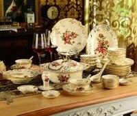 Бесплатная доставка из европейской керамики посуда комплект посуды Китай Пномпень блюда комбинированные Креативные Свадебные подарки