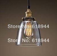 Nieuwe collectie vintage hanglampen glas en koper lamphouder opknoping lamp hanglamp armatuur edison lamp verlichting
