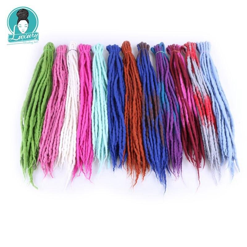 Lyx för flätning 10 strands 90cm-120cm lång Nepal filt ull - Syntetiskt hår