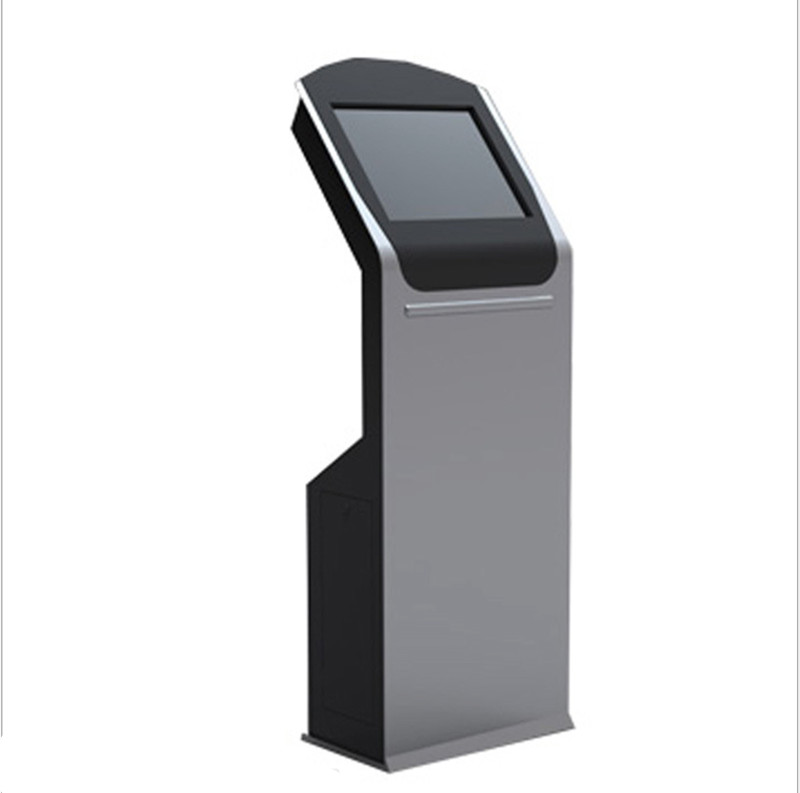 Cell Phone Charging Station Standing Kiosk With Locker And 19 Inch Lcd Screen For Advertising In Railway Station/airport