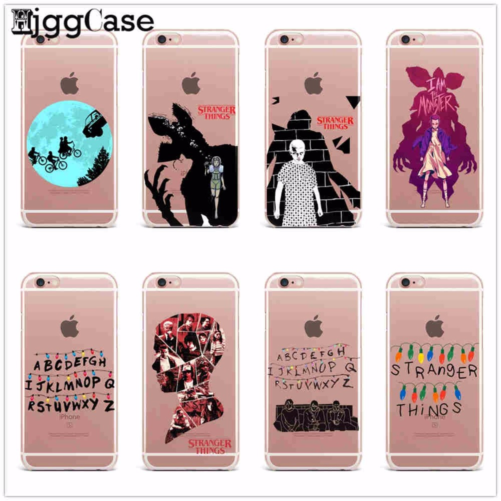 pretty nice 2097a 832fa Stranger Things Christmas Lights Case For Iphone X 7 7Plus 6 6S 8 Plus 5 5S  SE Soft Silicone TPU Phone Cases Cover Fundas Capa