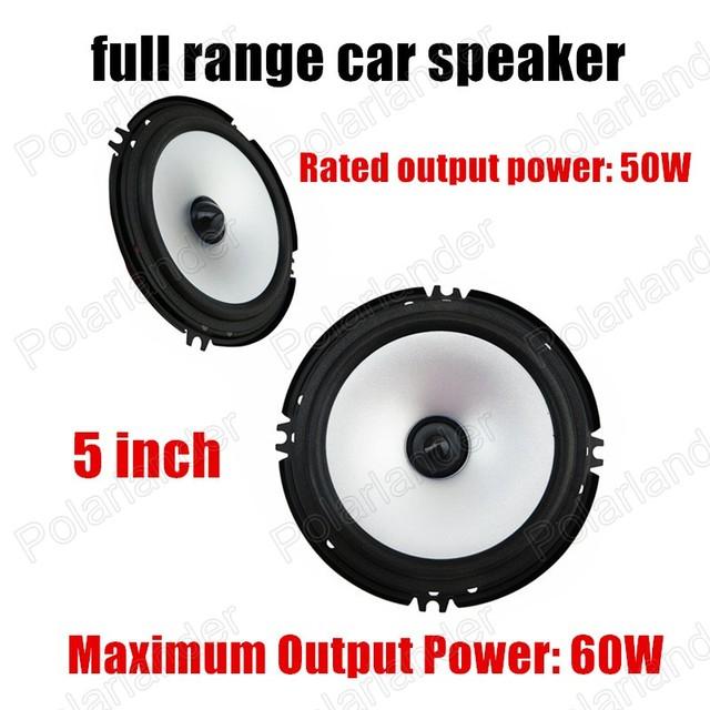 Envío de la Alta Calidad de 5 pulgadas 2x60 W Gama Completa de Altavoces De Audio del Coche Subwoofer Coche