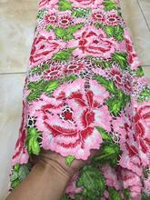 pink lace fabric African Lace Fabric 2019 Embroidered French Laces For Wedding Party Dress DYS113