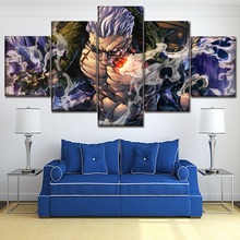 Canvas Wall Art Modular Pictures HD Prints Poster 5 Piece Anime One Smoker Paintings Home Decorative Bedroom Framework