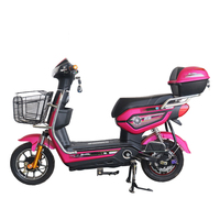 48V Electric Bicycle 48V 12A Lead Acid Battery More Color In Stock Factory Directly Electric Scooter Brushless Hub Motor Ebike