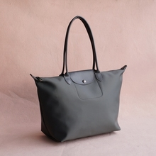 Nylon tote bags with leather handles online shopping-the world ...