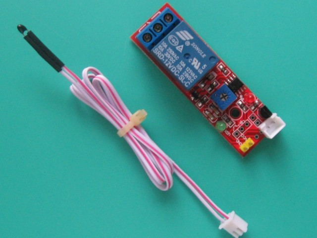 12V Temperature sensor module with 50cm long lead thermistor temperature detection relay module