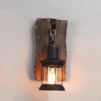 EKOO Vintage Industrial Retro Wood Sconce Cafe Bar Wall Lamp Fixture Wall Loft Light