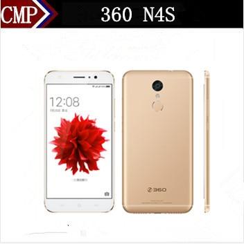 "Original 360 N4S 4G LTE Mobile Phone Deca Core Android 6.0 5.5"" FHD 4GB RAM 64GB ROM 16.0MP Fingerprint OTG 5000mAh Metal Case"