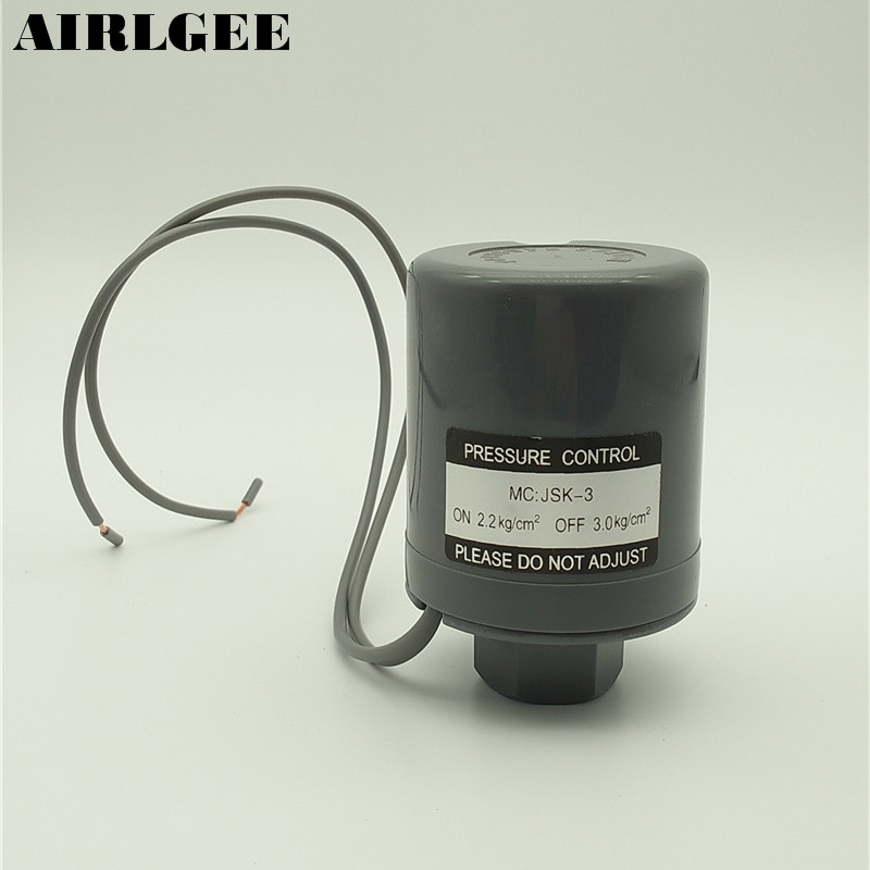 2.2kg/cm2 ON 3.0kg/cm2 OFF AC 220V 3KW Water Pump Automatic Pressure Switch Controller цена